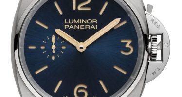 Panerai Luminor Due 3 jours en titane : tendance bleue